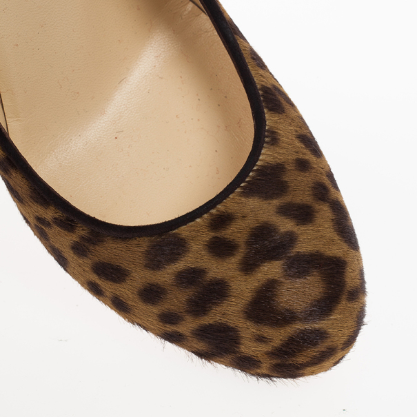 Christian Louboutin Leopard Pony Hair Fifi Pumps Size 39