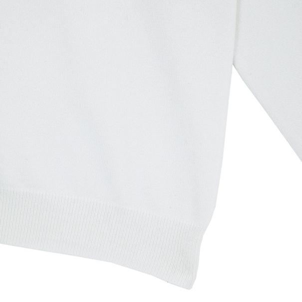 Carolina Herrera White Knit Cardigan XS