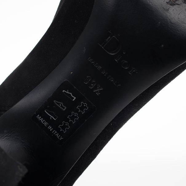 Dior Black Suede Knee Boots Size 39.5