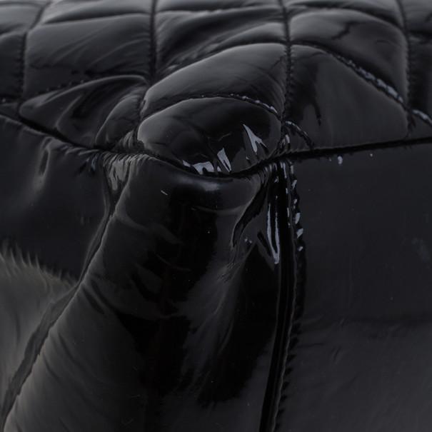 Chanel Black Patent Grand Shopper Tote GST