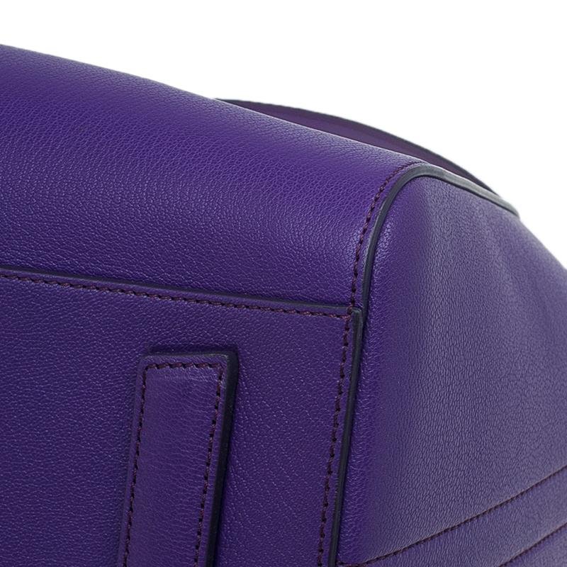 Givenchy Purple Leather Medium Antigona Satchel Bag