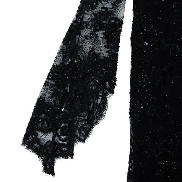 Zuhair Murad Black Lace Haute Couture Gown M