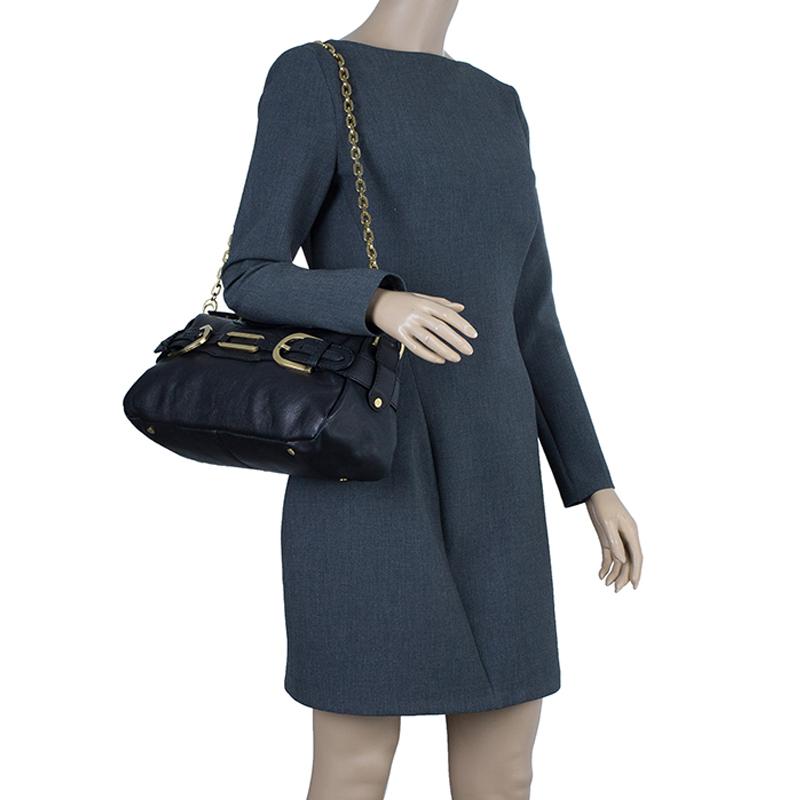Jimmy Choo Black Leather Tulita Shoulder Bag