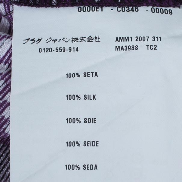 Miu Miu Dot Print Silk Kaftan S