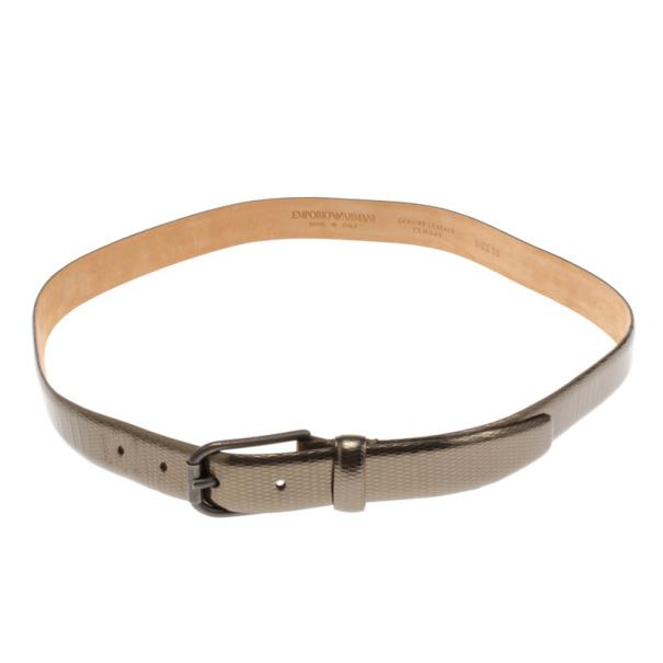 Emporio Armani Metallic Skinny Belt Size 50