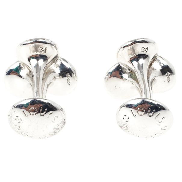 Louis Vuitton Silver Bouquet Cufflinks
