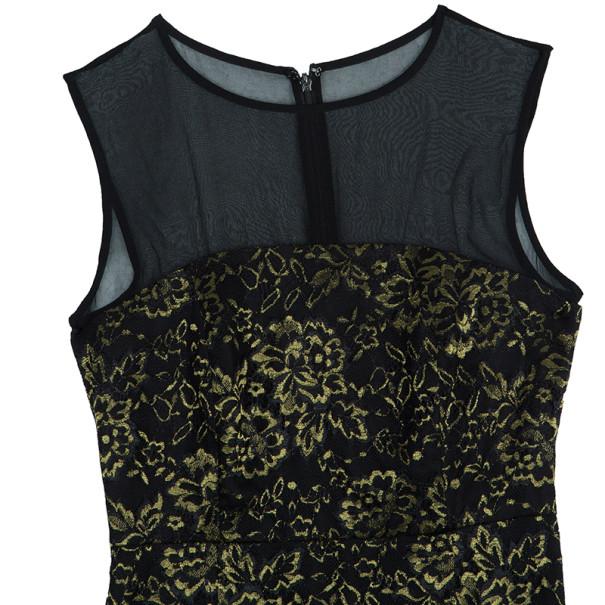 Diane Von Furstenberg Nisha Metallic Lace Dress S