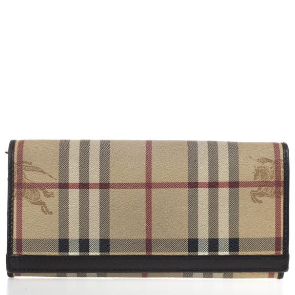 Burberry 'Haymarket Check' Continental Flap Wallet