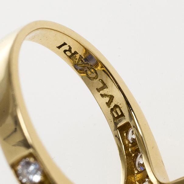 Bvlgari Elisia Sapphire and Diamond Ring Size 52