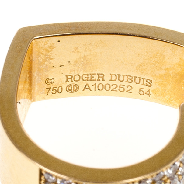 Roger Dubuis My Heart Diamond Rose Gold Wide Ring Size 54