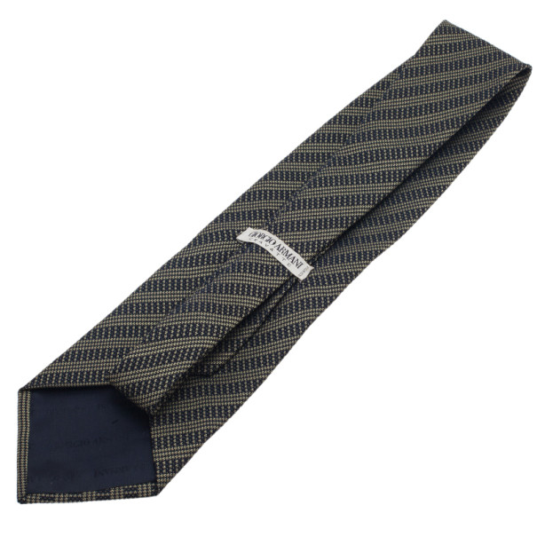 Giorgio Armani Navy Blue Tie