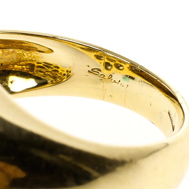 Salvini Diamond Yellow Gold Ring Size 54