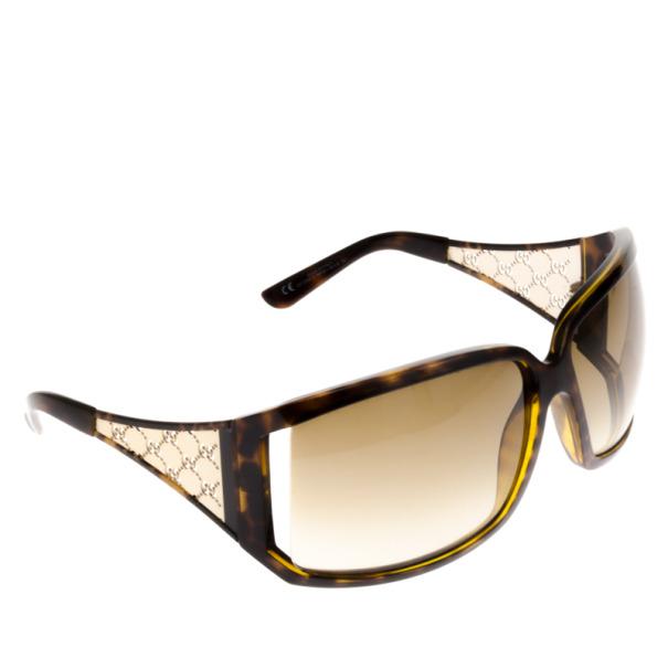 Gucci 2999 Gold Wire Frame Cutout GG Womens Sunglasses