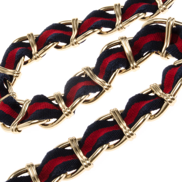Gucci Web Detail Chain Belt
