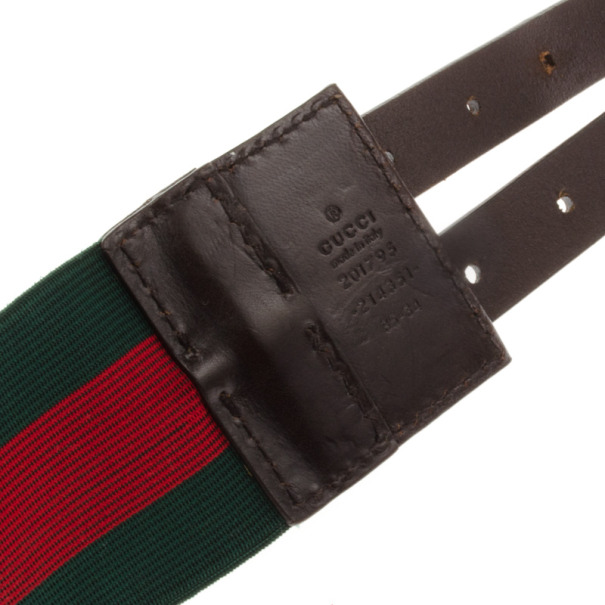 Gucci Web Detail Elastic Belt 85 CM