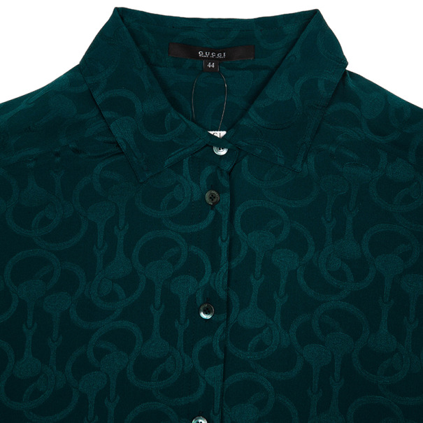 Gucci Silk Satin Shirt M