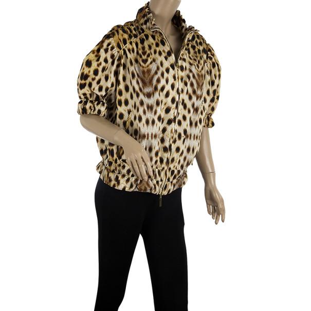 Roberto Cavalli Leopard Print Jacket M