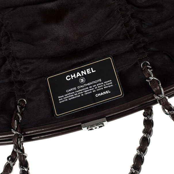Chanel Dark Brown Pony Hair Sharpei Tote Bag