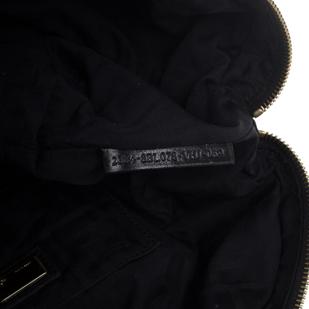 Fendi Black Satin Baby Spy Bag