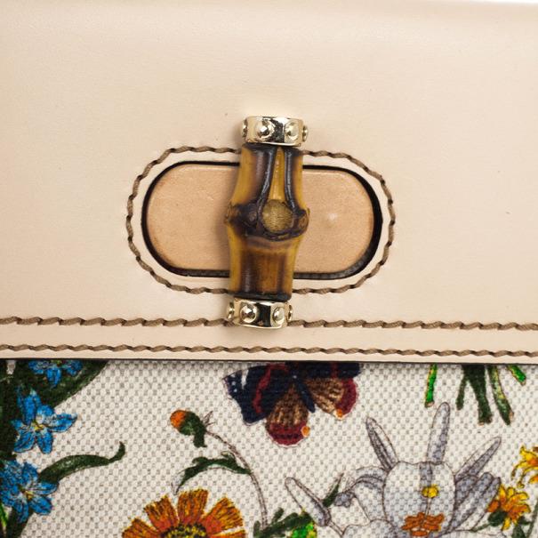 Gucci Bamboo Flora Folio Wallet