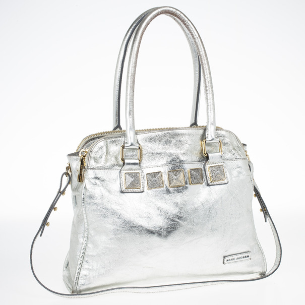 Marc Jacobs Eve Metallic Leather Shopper