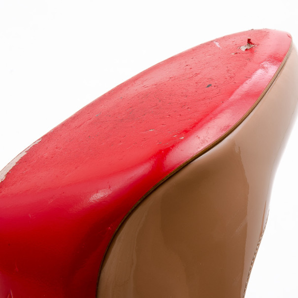 Christian Louboutin Nude Patent Fifi Pumps Size 38.5