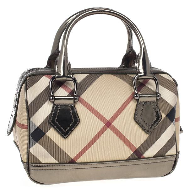 Burberry Small Nova Check Bowling Bag