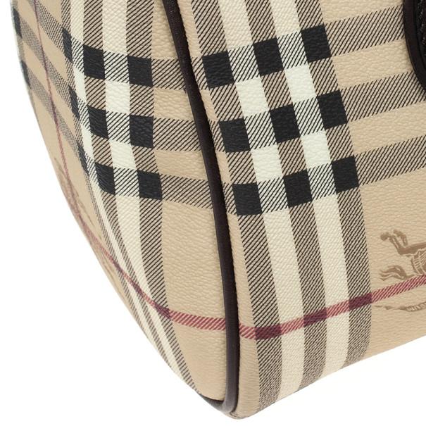 Burberry Haymarket Check Coated Canvas Medium Bowling Bag