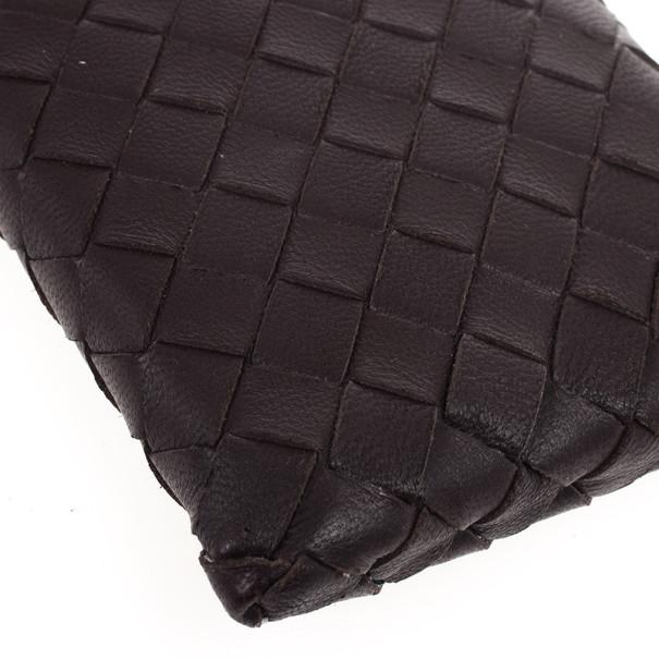 Bottega Veneta Brown Leather Intrecciato iPhone 4 Cover
