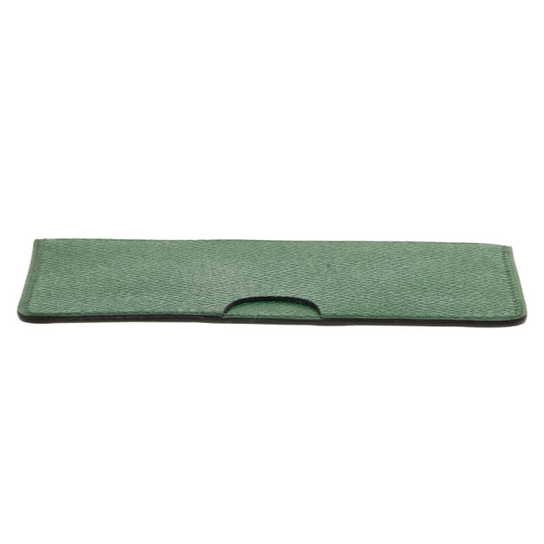 Hermes Green Leather Porquerolles Card Case
