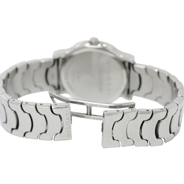 Bvlgari Solotempo Stainless Steel Unisex Wristwatch 35MM
