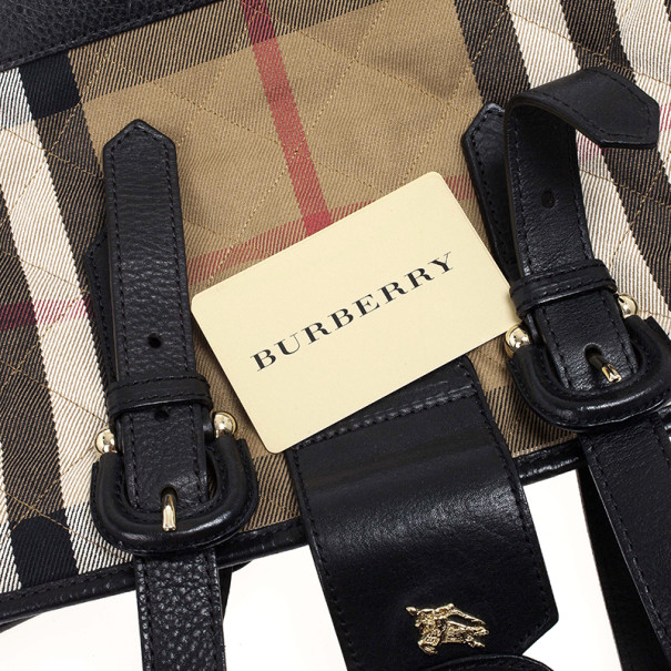 Burberry Nova-Check Quilted Fabric Tote Bag