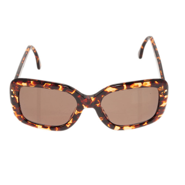 Giorgio Armani Brown Printed Square Sunglasses