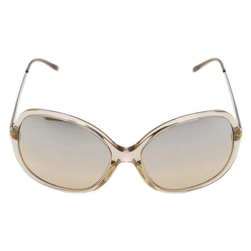 Burberry Brown Oversized Round Sunglasses