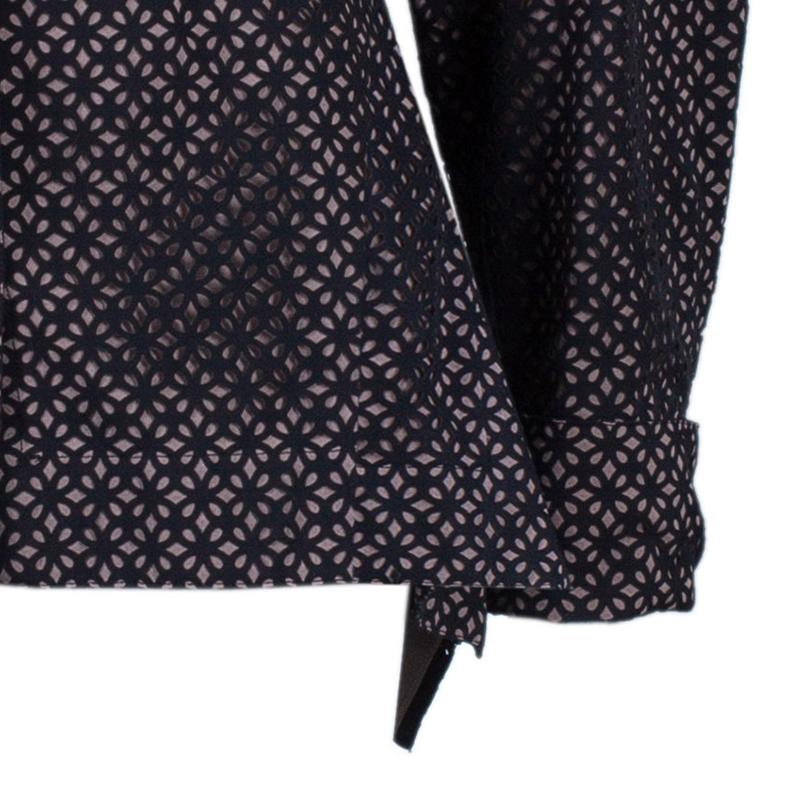 Azzedine Alaia Black Peplum Shirt M