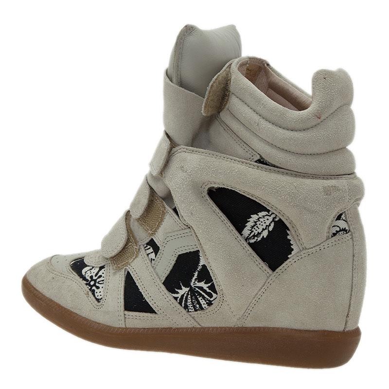 Isabel Marant Beige Bekett Wedge Sneakers Size 39