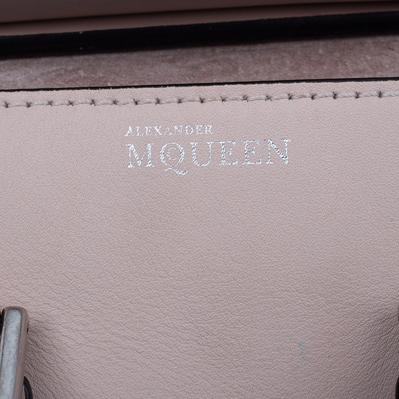 Alexander McQueen Beige Leather Mini Heroine Shoulder Bag
