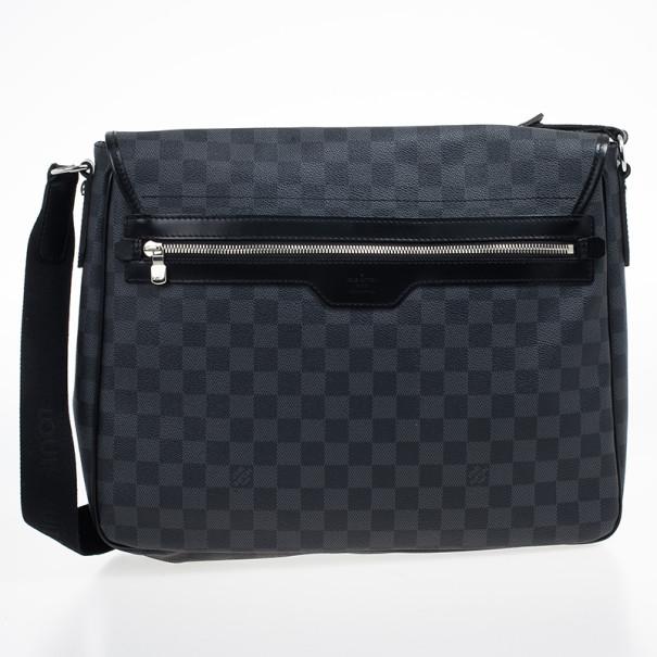 Louis Vuitton Damier Graphite Laptop Renzo Messenger Bag
