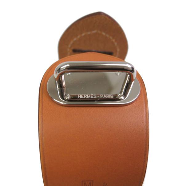 Hermes Brown Leather Bracelet