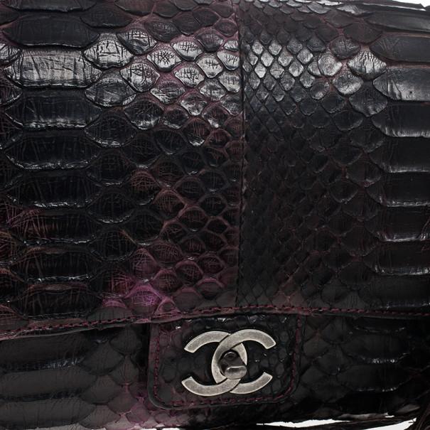 Chanel Python Classic Flap Shoulder Bag