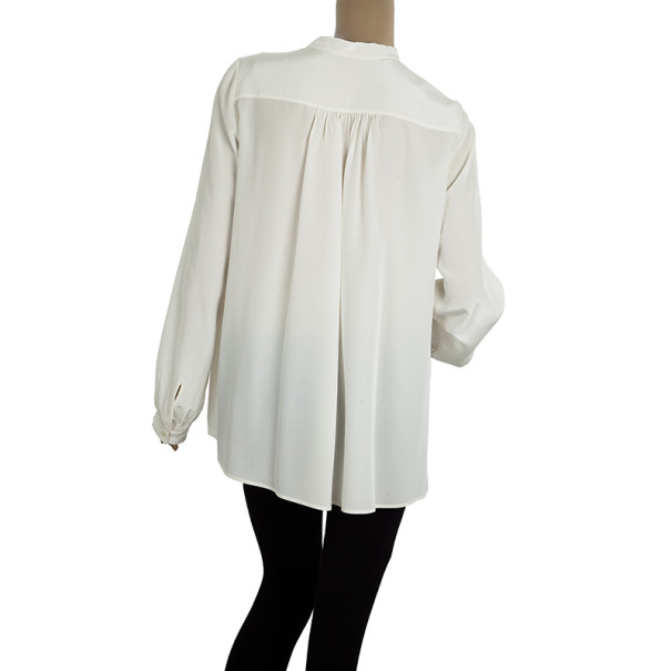 Chloe Long Sleeve Yoke Top M