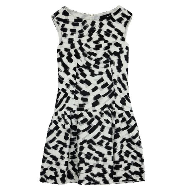 Carolina Herrera Monochrome Drop Waist Dress Size L