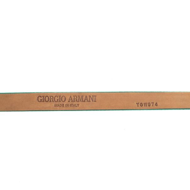Giorgio Armani Satin Strass Logo Belt Size 44