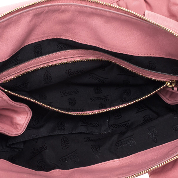 Gucci Pink Leather 'Hysteria' Large Tote