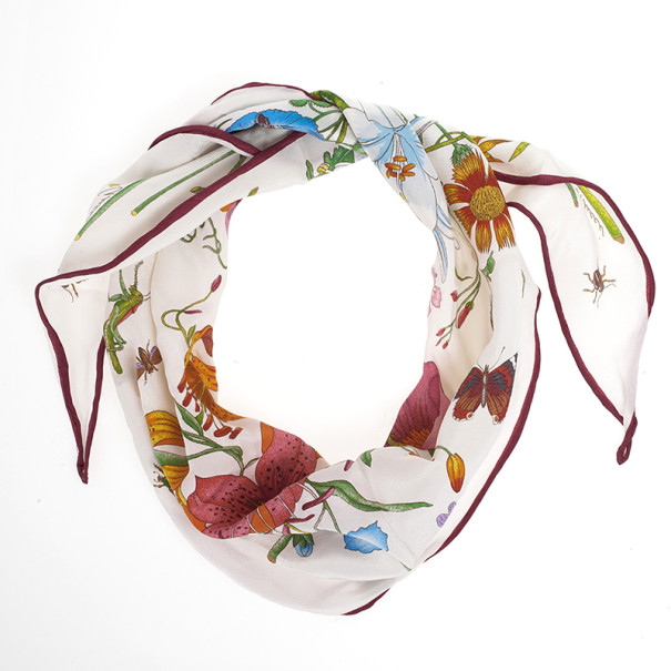Gucci Floral Neck/Head Scarf