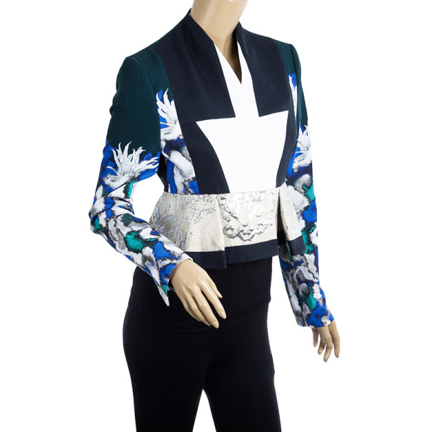 Peter Pilotto F Printed Cotton Blend Jacket S