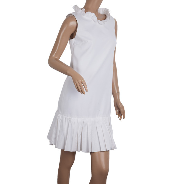 Dolce and Gabbana Cotton Pleated Dress S