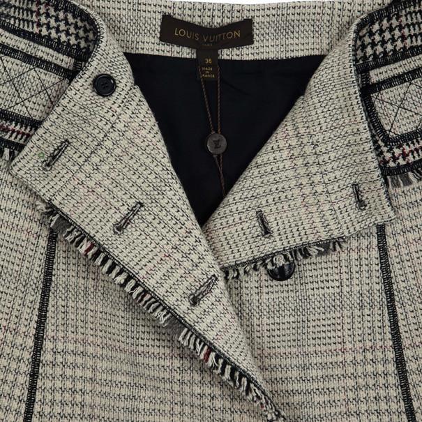 Louis Vuitton Overlap Tweed Skirt S