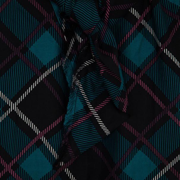 Gucci Plaid Print New Clan Scarf Top S