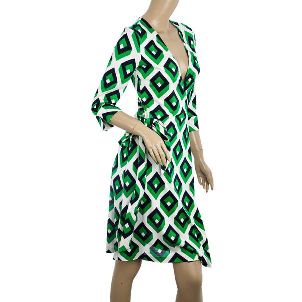 Diane Von Furstenberg Vintage Julian Cube Dress S